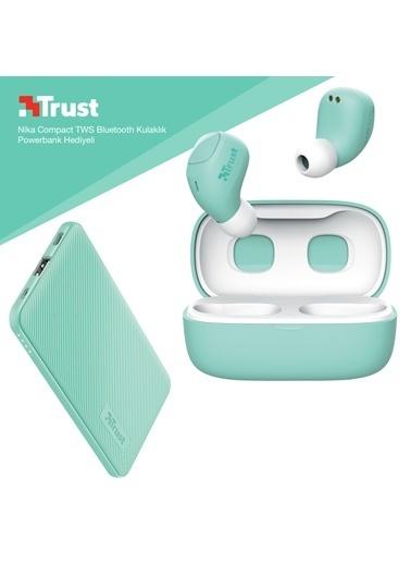 Trust Trust Nika Compact Turkuaz Bluetooth Kulak ıçi Kulaklık Powerbank Hediyeli Renkli
